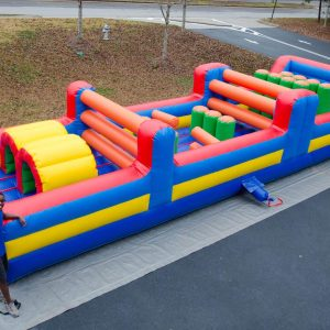 35' inflatable obstacle course for rent