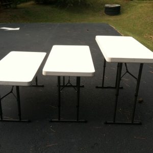 4 ft folding tables rental
