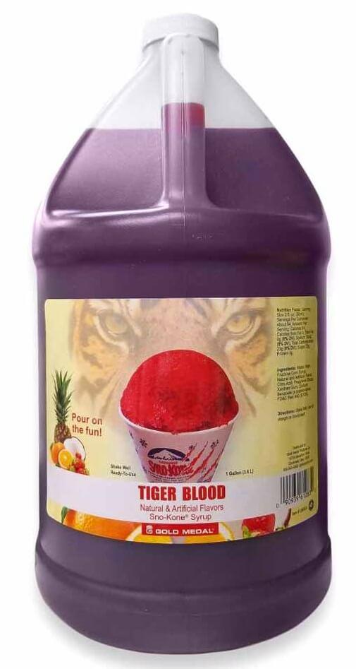 tiger blood snocone flavor