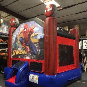 spiderman inflatable moonwalk