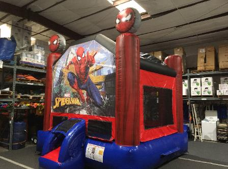 spiderman inflatable moonwalk