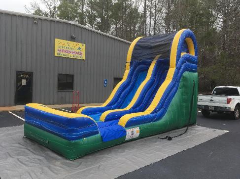 backyard inflatable slide rental