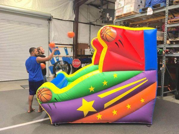 Basketball shooting hoop inflatable