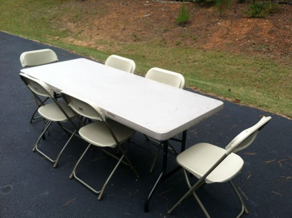 folding tables and chairs rental