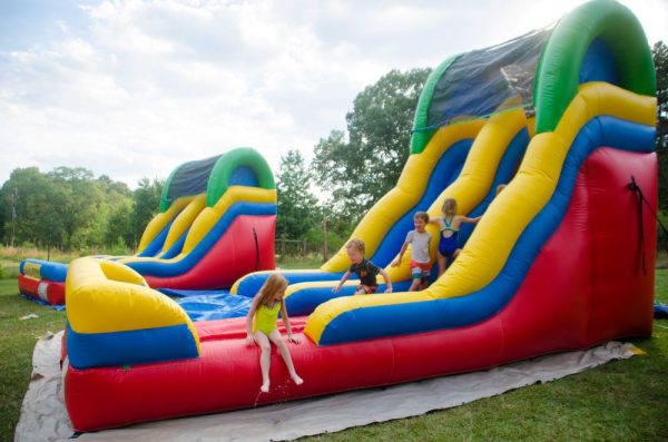 kids backyard water slide rental