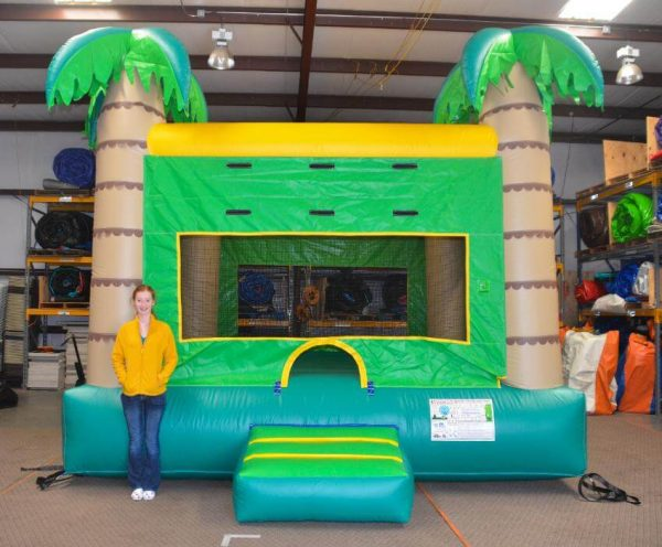 Palm tree bounce house for rent