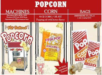 popcorn machine rental pricing