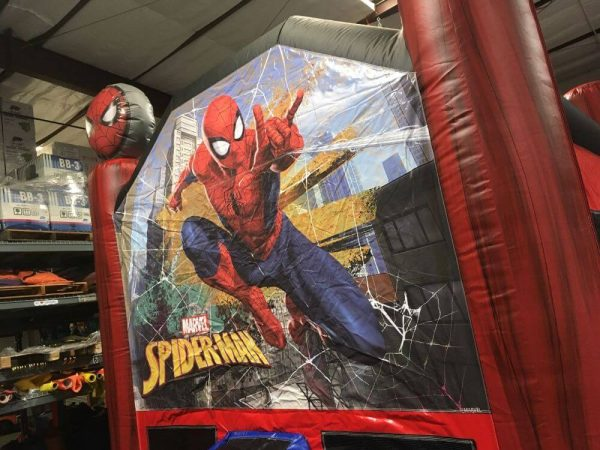 spiderman inflatable jumper